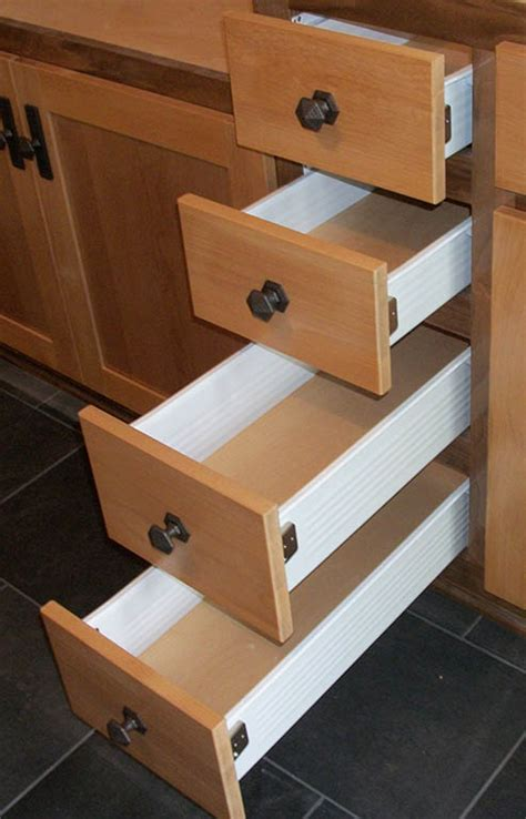 kitchen cabinet drawers with metal sides kitchen cabinet drawer options healthycabinetmakers 9107