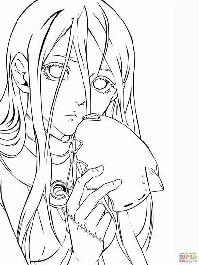 Coloring Anime Manga Wonderland Deadman Colorear Dibujos