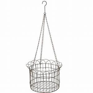 Large, Metal, Fence, Hanging, Basket, Midwest