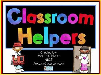 Class Classroom Helpers Chart Job Charts Flipchart