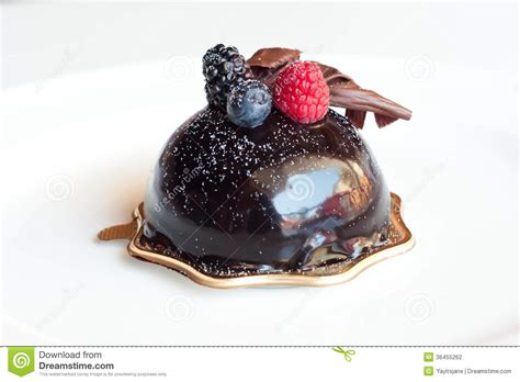 chocolate fruit cup dessert stock photography image 36455262