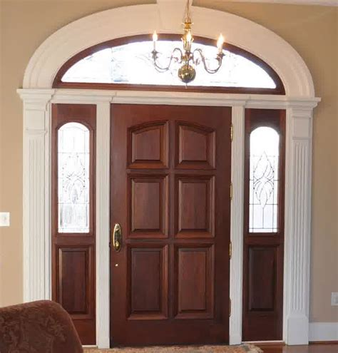 contoh gambar model desain pintu minimalis kayu jati