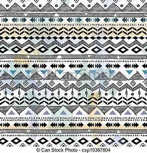 Vector Clipart of tribal print - seamless vector ...
