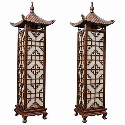 Floor Lamps Chinese Pair Lamp Candle Lighting