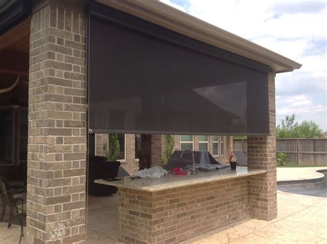 roll up patio sun screens houston outdoor shades roll up or shades roll away