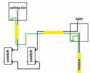 Wiring a bathroom light fan combo