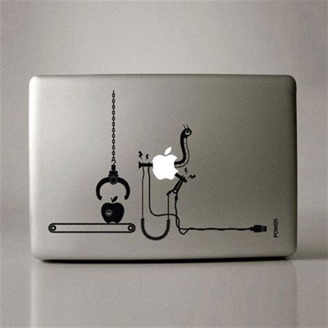 creative mac laptop typographic stickers bit rebels