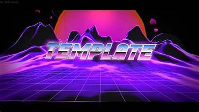 Vaporwave Intro Template Blender Leafy 80s