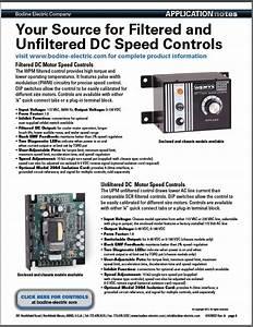 Selecting Dc Motor Speed Controls For Pmdc Gearmotors