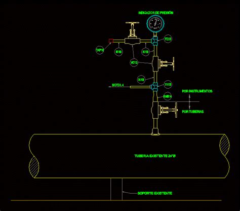 type  pressure gauge  dwg elevation  autocad