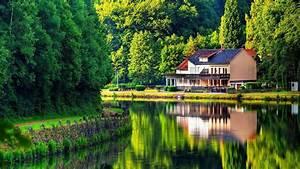 House On The Lake Shore HD desktop wallpaper : Widescreen ...