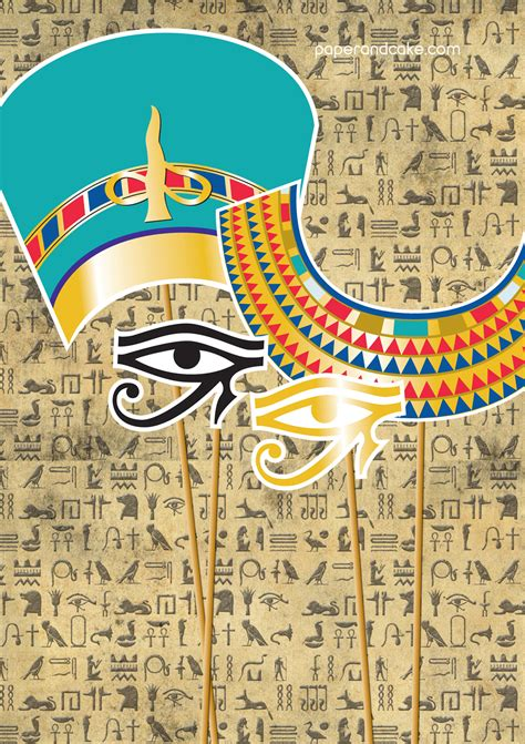 party release egyptian photobooth props paper