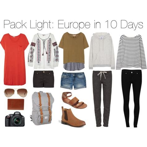 packing light for travel pack light europe in 10 days clothes pinterest