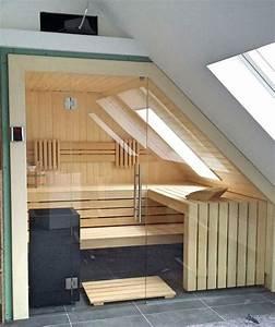 Sauna Mit Glasfront : sauna ma anfertigung mit dachschr ge glasfront und ~ Articles-book.com Haus und Dekorationen