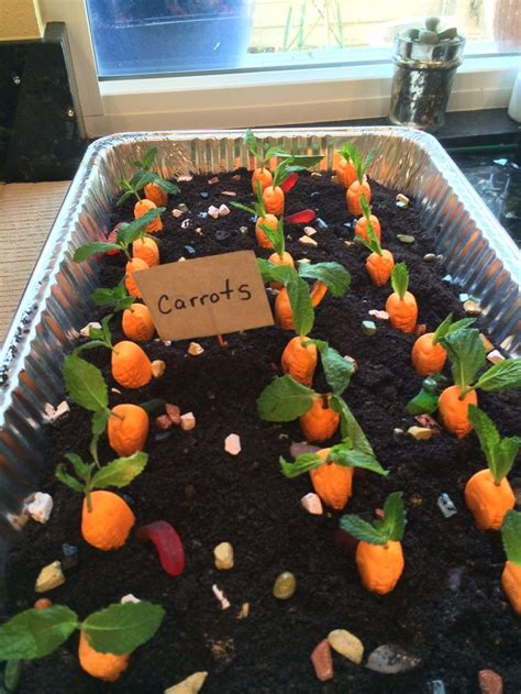 dirt cake with gummy worms carrot garden dirt cake i put gummy worms and