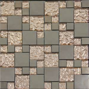 mosaic tile backsplash kitchen copper glass and porcelain square mosaic tile designs