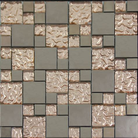 gray tile kitchen copper glass and porcelain square mosaic tile designs