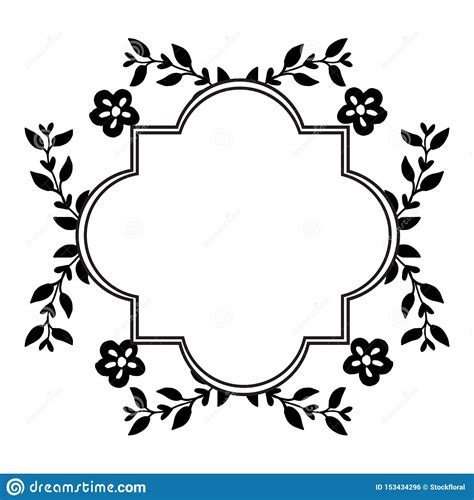 Ornamental Vintage Frames Isolated On White Background
