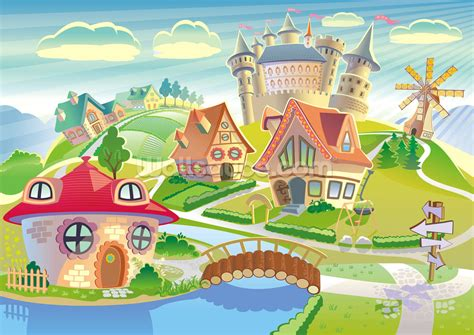 Fairytale Land and Castle Wallpaper Wall Mural   Wallsauce