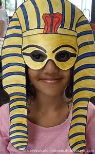 use your coloured pencils tutankhamun masks With egyptian masks templates