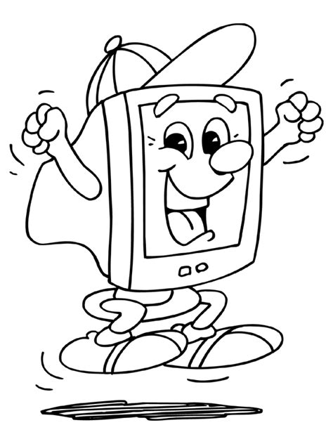 Coloring On Computer by Computer Coloring Pages