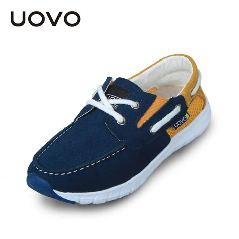 Boat Shoes Eu by New Uovo Brand Suede Leather Casual Shoes Boys Loafers