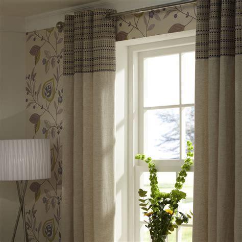 Adara Chartreuse Damsay Lined Eyelet Curtains