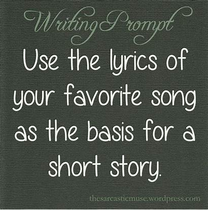 Writing Short Song Prompts Story Prompt Creative