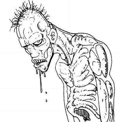 Coloring Scary Pages Adults Zombie Ugly Monster