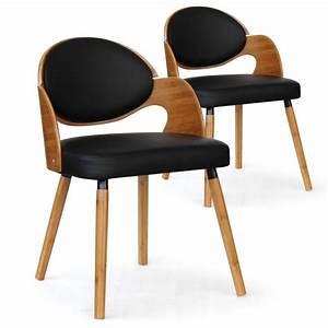 Chaise Chene Clair : chaise scandinave ch ne clair et noir manu lot de 2 pas cher scandinave deco ~ Teatrodelosmanantiales.com Idées de Décoration