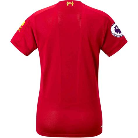 The premier league and uefa champions league title chasers' latest home jersey will be available at. 2019/20 Womens New Balance Liverpool Home Jersey - SoccerPro