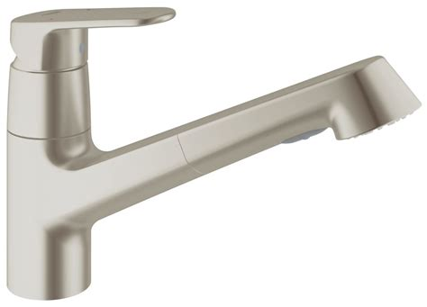 grohe europlus kitchen faucet faucet com 32946dc2 in supersteel by grohe