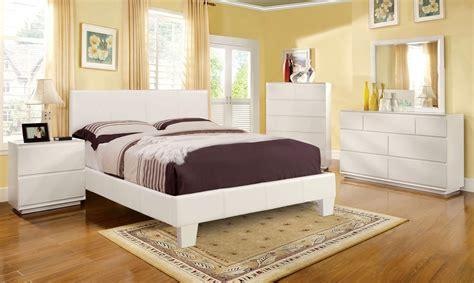 winn park contemporary white platform bedroom set