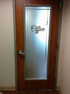 Office, Sign, Sticker, Vinyl, Decal, Sticker, Door, Glass, Wood, Metal, Business, Signs