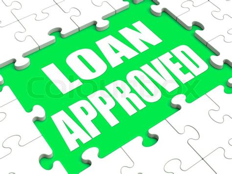 Loan Approved Puzzle Shows Credit Lending Agreement