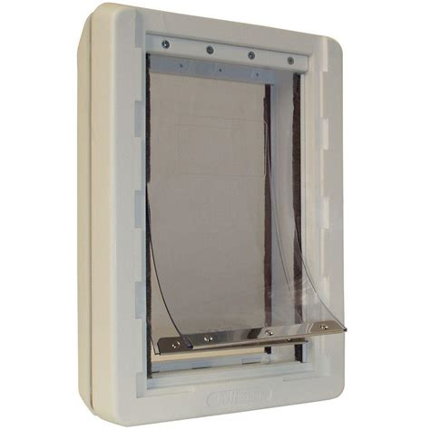 ideal pet products ruff weather pet door ideal pet 7 25 in x 13 in medium ruff weather frame door