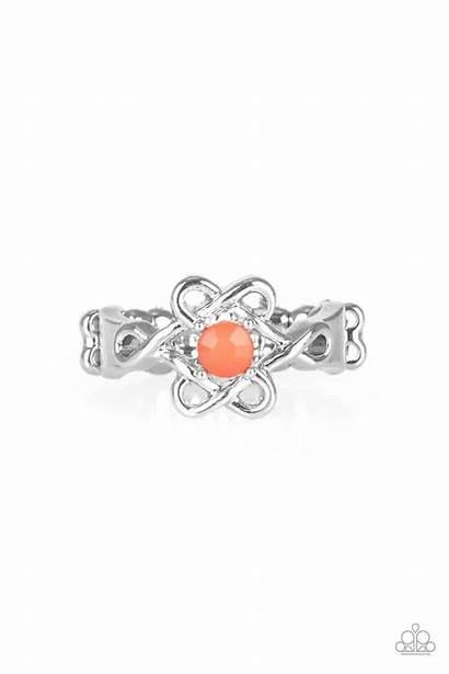 Orange Vibrant Vibes Paparazzi Ring Jewelry