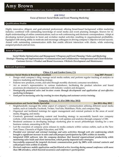 Media Planner Resume by Media Resume Exles Resume Sles Resume Exles