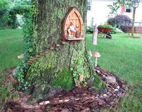 gnome home front door same tree as gnome home back door