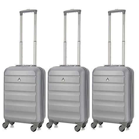 aerolite set de 3 55cm abs bagage cabine 224 valise rigide l 233 ger 4 roulettes