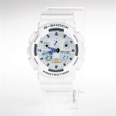 Buy a Casio G SHOCK GA 100A 7A Watch White online at ...