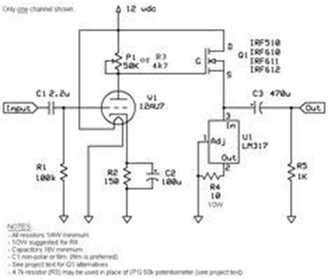 Preamplifier Schematic Electronics Pinterest