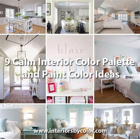 interior color palettes 9 calm interior color palette and paint color ideas