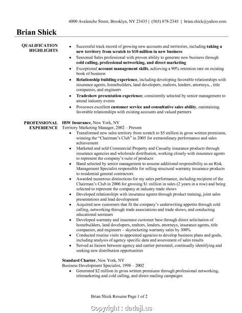 Insurance Resume Sle by Free Insurance Account Manager Resume Sle Best