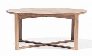 Table Ronde En Chene : table basse en chene naturel ~ Teatrodelosmanantiales.com Idées de Décoration