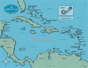 Map Caribbean Islands Resorts