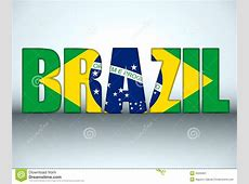 Brazil 2014 Letters With Brazilian Flag Stock Vector