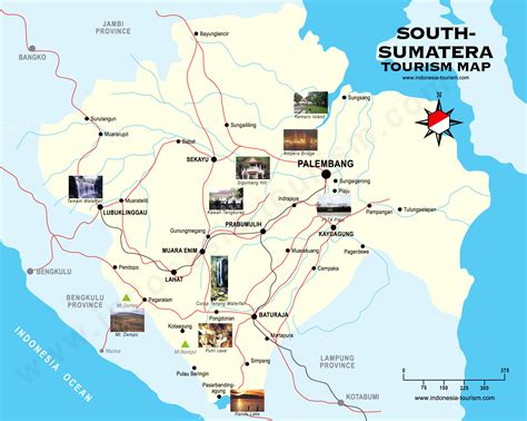 palembang city map peta kota palembang