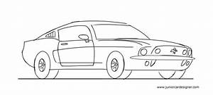 Learn how to draw a muscle car | Junior Car Designer