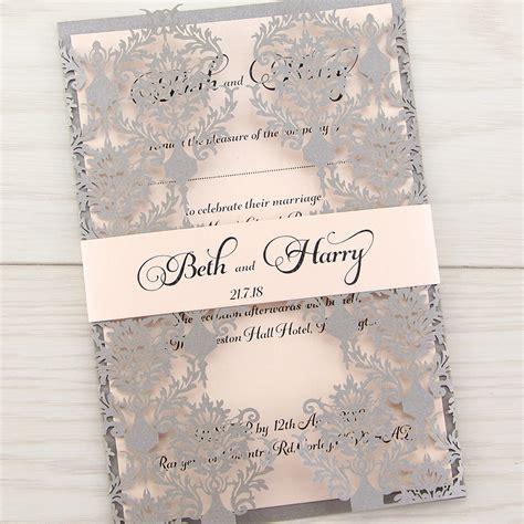 rosa with band wedding invitation pure invitation wedding invites